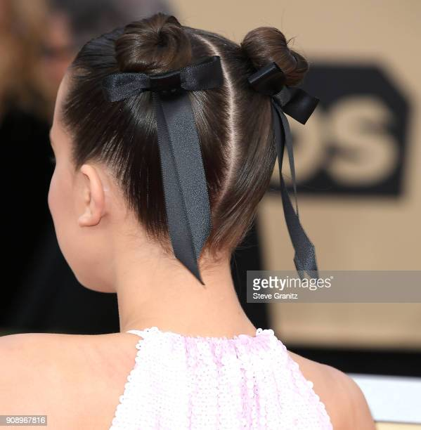 Millie Bobby Brown arrives at the 24th Annual Screen ActorsGuild Awards at The Shrine Auditorium on January 21 2018 in Los Angeles California