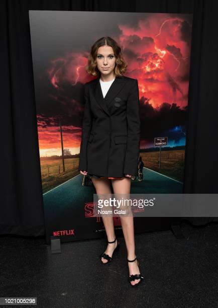 "Millie Bobby Brown attends a ""Stranger Things Season 2"" screening at AMC Lincoln Square Theater on August 21, 2018 in New York City."