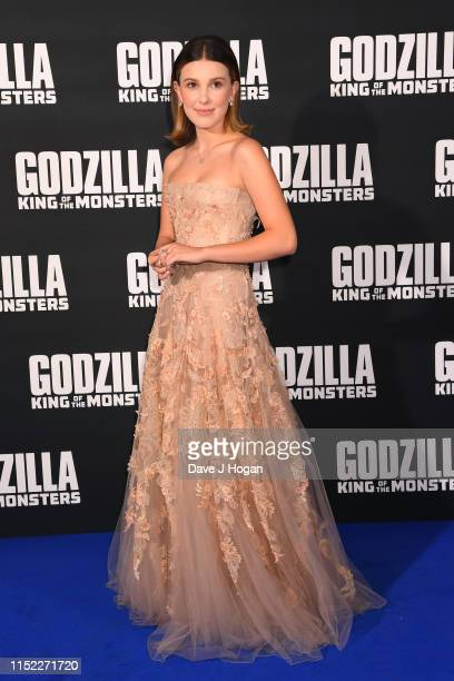 Millie Bobby Brown attends GODZILLA II King of the Monsters at Cineworld Leicester Square on May 28 2019 in London England