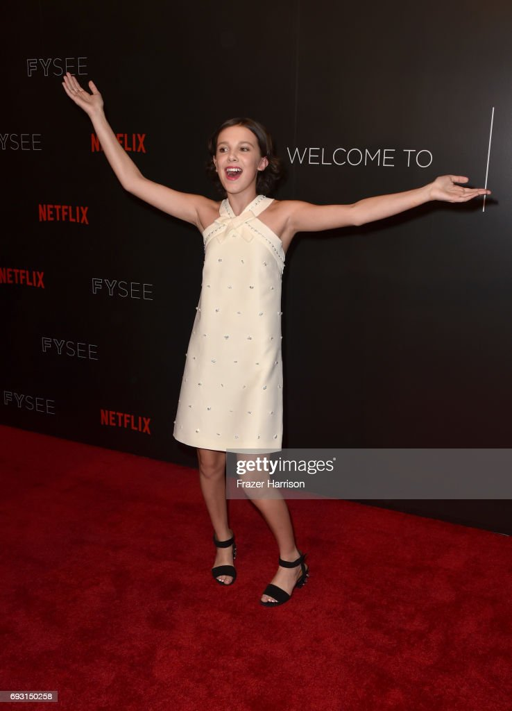 Millie Bobby Brown attends Netflix's 'Stranger Things' For Your Consideration event at Netflix FYSee Space on June 6, 2017 in Beverly Hills, California.