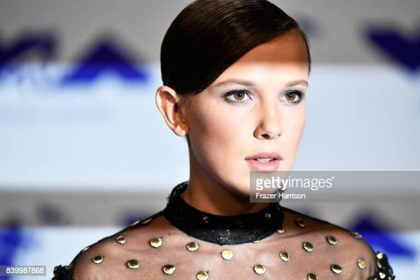 Millie Bobby Brown attends the 2017 MTV Video Music Awards at The Forum on August 27, 2017 in Inglewood, California.