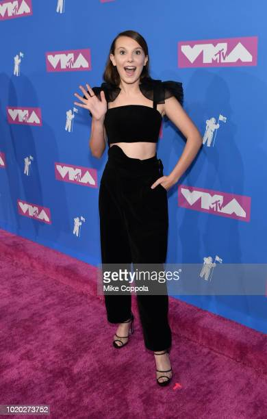 Millie Bobby Brown attends the 2018 MTV Video Music Awards at Radio City Music Hall on August 20 2018 in New York City