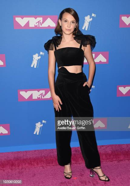 Millie Bobby Brown attends the 2018 MTV Video Music Awards at Radio City Music Hall on August 20, 2018 in New York City.
