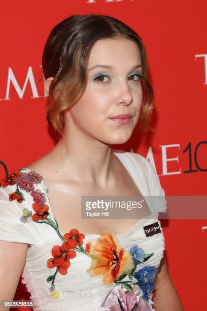 Millie Bobby Brown attends the 2018 Time 100 Gala at Frederick P Rose Hall Jazz at Lincoln Center on April 24 2018 in New York City