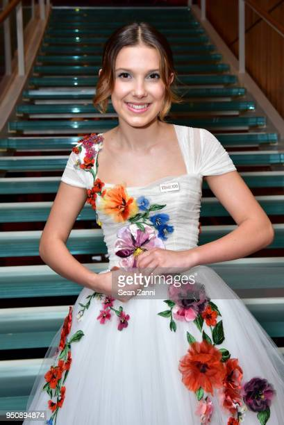 Millie Bobby Brown attends the 2018 TIME 100 Gala at Jazz at Lincoln Center on April 24 2018 in New York City