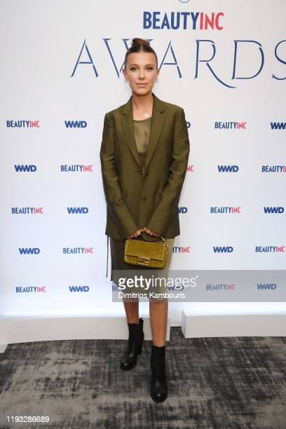 Millie Bobby Brown attends the 2019 WWD Beauty Inc Awards at The Rainbow Room on December 11 2019 in New York City