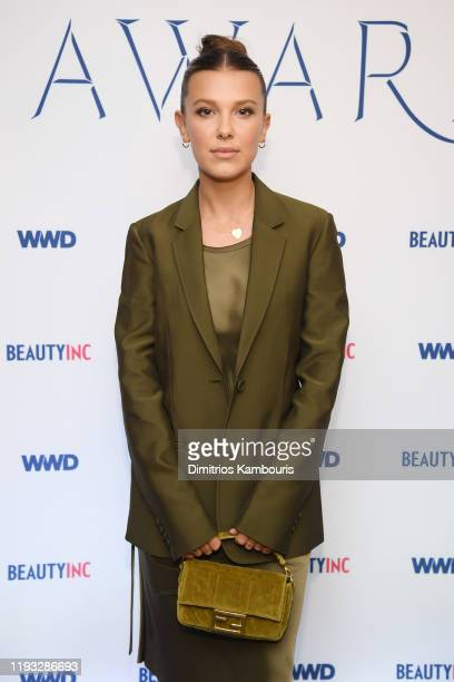 Millie Bobby Brown attends the 2019 WWD Beauty Inc Awards at The Rainbow Room on December 11, 2019 in New York City.