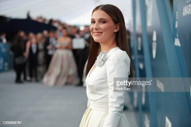 Millie Bobby Brown attends the 26th Annual Screen Actors Guild Awards at The Shrine Auditorium on January 19 2020 in Los Angeles California
