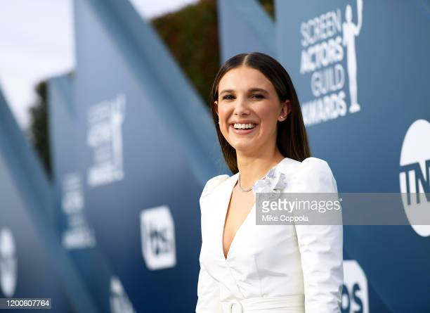 Millie Bobby Brown attends the 26th Annual Screen Actors Guild Awards at The Shrine Auditorium on January 19, 2020 in Los Angeles, California. 721384