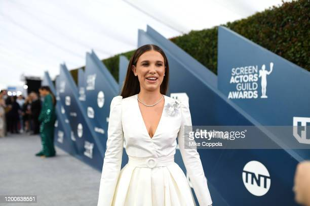 Millie Bobby Brown attends the 26th Annual Screen ActorsGuild Awards at The Shrine Auditorium on January 19, 2020 in Los Angeles, California. 721384