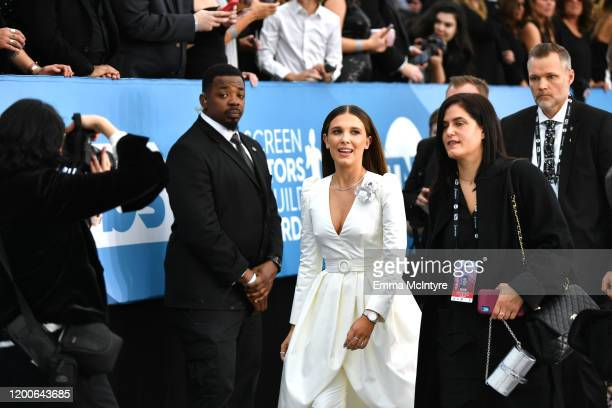 Millie Bobby Brown attends the 26th Annual Screen ActorsGuild Awards at The Shrine Auditorium on January 19, 2020 in Los Angeles, California. 721313