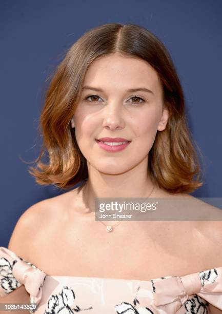 Millie Bobby Brown attends the 70th Emmy Awards at Microsoft Theater on September 17, 2018 in Los Angeles, California.