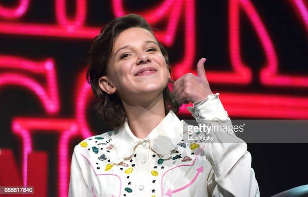 Millie Bobby Brown attends the 'Argentina Comic Con' at Costa Salguero on May 26 2017 in Buenos Aires Argentina