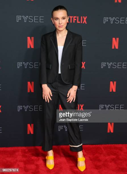 Millie Bobby Brown attends the #NETFLIXFYSEE For Your Consideration Stranger Things Event on May 19 2018 in Hollywood California