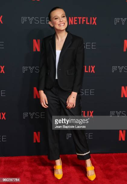 Millie Bobby Brown attends the #NETFLIXFYSEE For Your Consideration 'Stranger Things' Event on May 19 2018 in Hollywood California