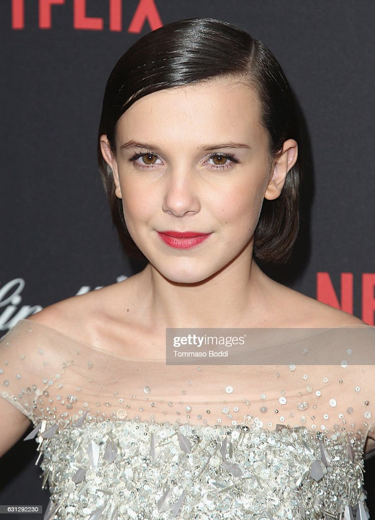 Millie Bobby Brown attends The Weinstein Company and Netflix Golden Globe Party, presented with FIJI Water, Grey Goose Vodka, Lindt Chocolate, and Moroccanoil at The Beverly Hilton Hotel on January 8, 2017 in Beverly Hills, California.