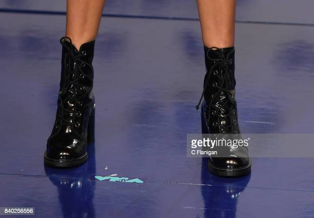 Millie Bobby Brown boot detail attends the 2017 MTV Video Music Awards at The Forum on August 27 2017 in Inglewood California