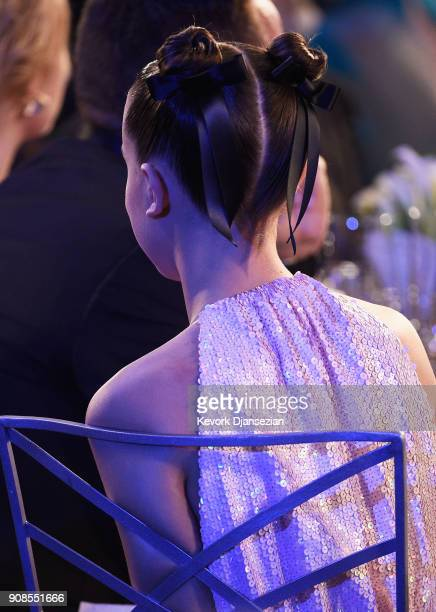 Millie Bobby Brown during the 24th Annual Screen ActorsGuild Awards at The Shrine Auditorium on January 21 2018 in Los Angeles California