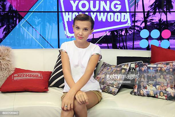 Millie Bobby Brown from Stranger Things visits the Young Hollywood Studio on September 6 2016 in Los Angeles California