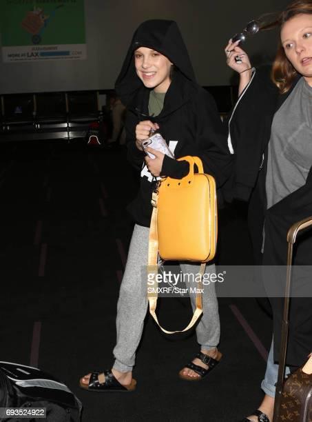 Millie Bobby Brown is seen on June 7 2017 in Los Angeles California