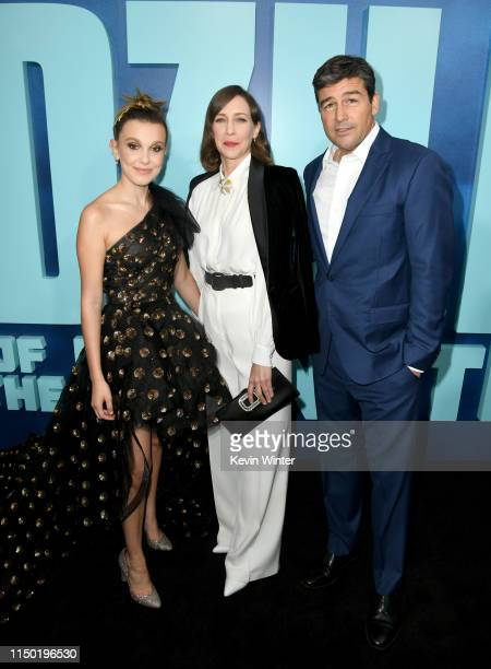 Millie Bobby Brown Vera Farmiga and Kyle Chandler attend the premiere of Warner Bros Pictures and Legendary Pictures' Godzilla King Of The Monsters...