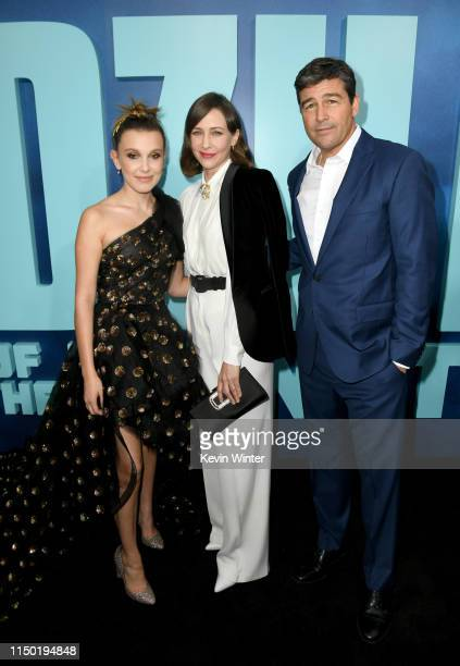 Millie Bobby Brown Vera Farmiga and Kyle Chandler attends the premiere of Warner Bros Pictures and Legendary Pictures' Godzilla King Of The Monsters...
