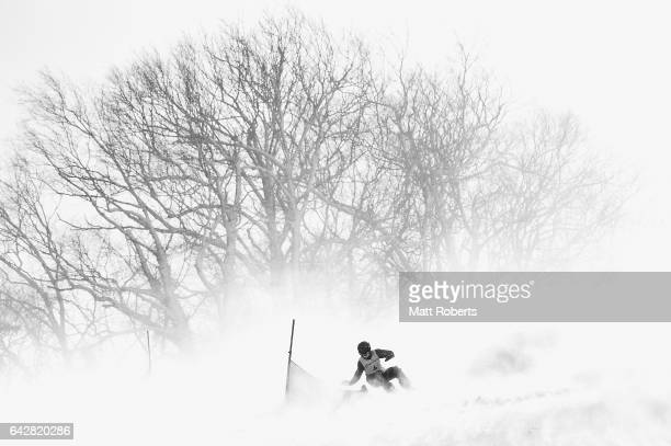 Millie Bongiorno of Australia competes in Women's Giant Slalom on day two of the 2017 Sapporo Asian Winter Games at Sopporo Teine on February 19,...