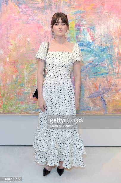 Millie Brady attends a private view of EXTREMIS by Sassan BehnamBakhtiar on October 24 2019 in Dusseldorf Germany