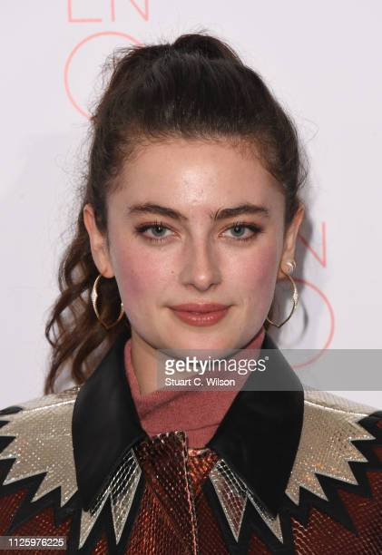 Millie Brady attends a VIP performance of 'La Boheme' at London Coliseum on January 29 2019 in London England