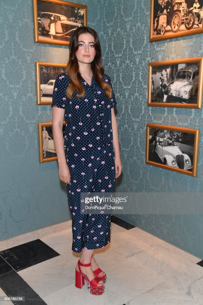 Millie Brady attends Miu Miu Cruise Collection show as part of Haute Couture Paris Fashion Week on July 2, 2017 in Paris, France.