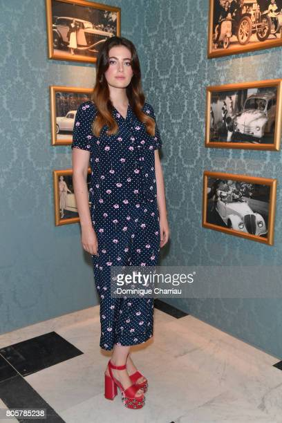 Millie Brady attends Miu Miu Cruise Collection show as part of Haute Couture Paris Fashion Week on July 2 2017 in Paris France