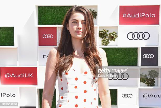 Millie Brady attends the Audi Polo Challenge at Coworth Park Polo Club on June 30 2018 in Ascot England