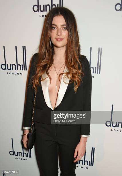 Millie Brady attends the dunhill and Dylan Jones preBAFTA dinner and cocktail reception celebrating Gentlemen in Film at Bourdon House on February 8...