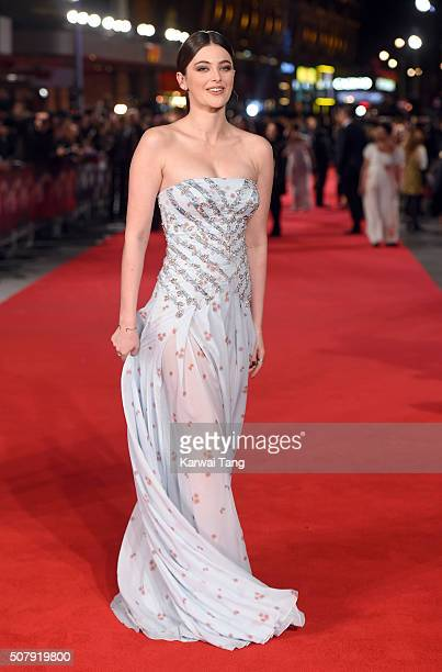 Millie Brady attends the European premiere of Pride And Prejudice And Zombies at the Vue West End on February 1 2016 in London England