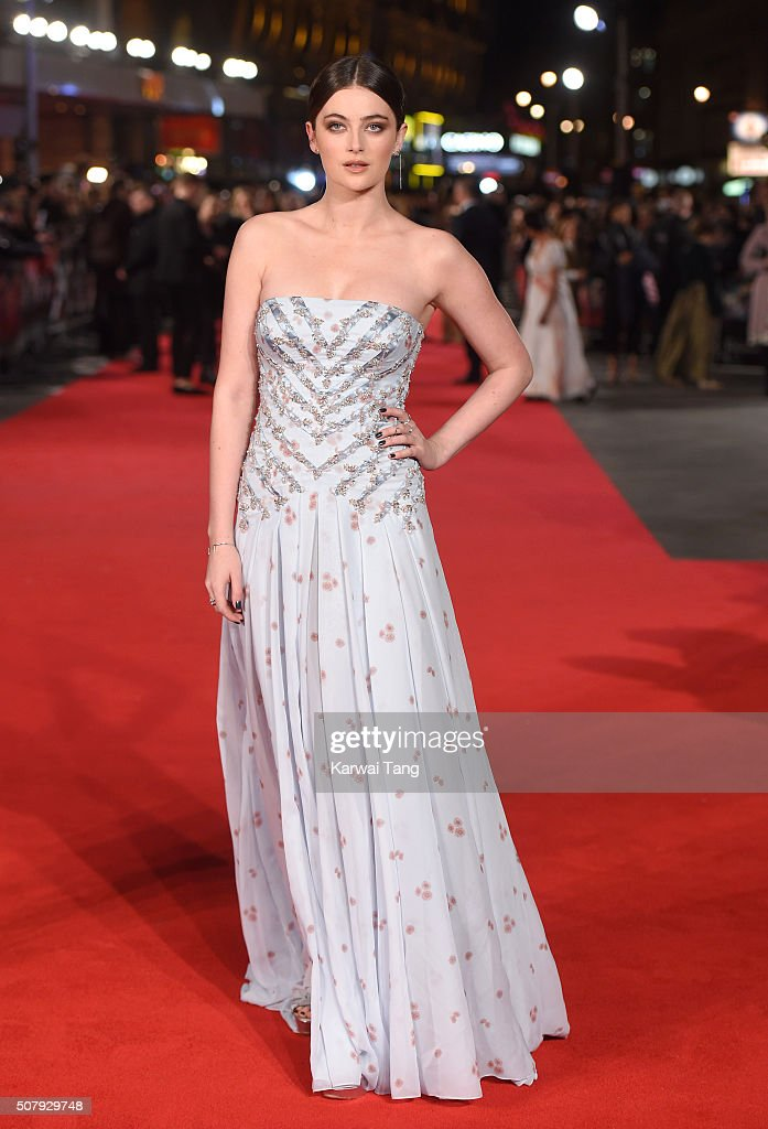 Millie Brady attends the European premiere of 'Pride And Prejudice And Zombies' at the Vue West End on February 1, 2016 in London, England.