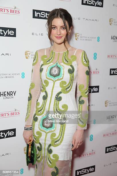 Millie Brady attends the InStyle EE Rising Star PreBAFTA Party at 100 Wardour Street on February 4 2016 in London England