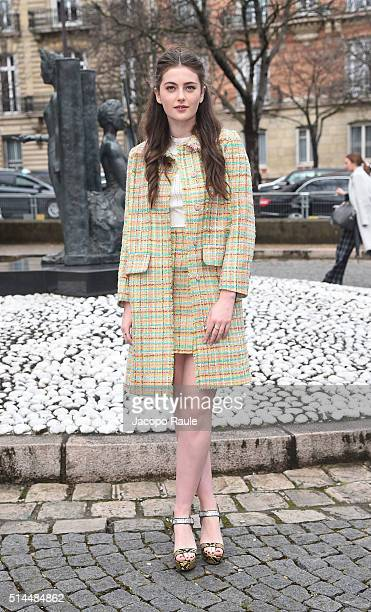 Millie Brady attends the Miu Miu show as part of the Paris Fashion Week Womenswear Fall Winter 2016/2017 on March 9 2016 in Paris France