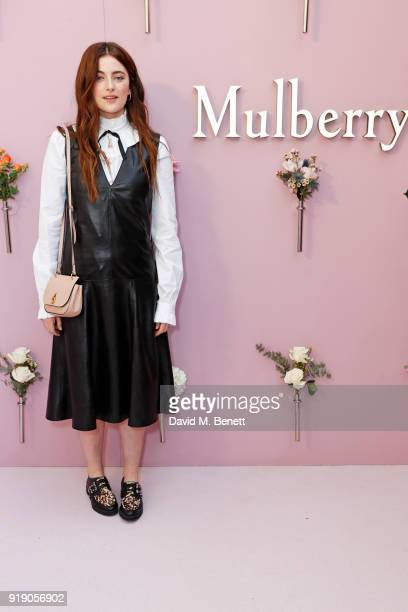 Millie Brady attends the Mulberry 'Beyond Heritage' SS18 Presentation during London Fashion Week February 2018 at Spencer House on February 16 2018...