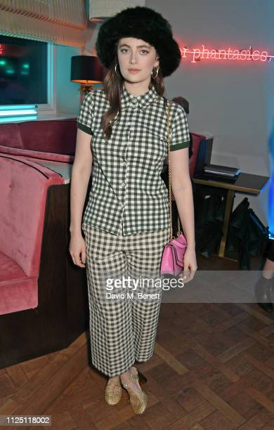 Millie Brady attends the Mulberry Reflections party celebrating London Fashion Week February 2019 and Mulberry's SS19 collection at Laylow on...
