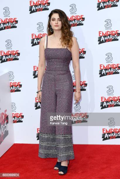 Millie Brady attends the THREE Empire awards at The Roundhouse on March 19 2017 in London England