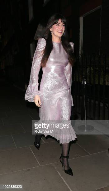 Millie Brady seen attending Dunhill Dylan Jones BAFTAs Filmmakers Dinner Party at Bourdon House on January 29 2020 in London England