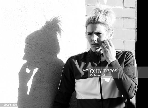 Millie Bright of Chelsea ahead of the Barclays FA Women's Super League match between Arsenal and Chelsea at Meadow Park on January 19 2020 in...
