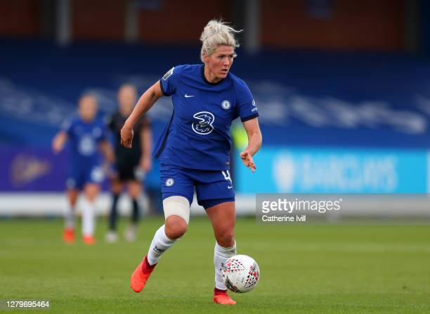 Millie Bright of Chelsea during the Barclays FA Women's Super League match between Chelsea Women and Manchester City Women at Kingsmeadow on October...