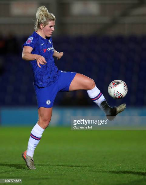 Millie Bright of Chelsea during the FA Women's Continental League Cup Quarter Final match between Chelsea Women and Aston Villa Women at The Cherry...