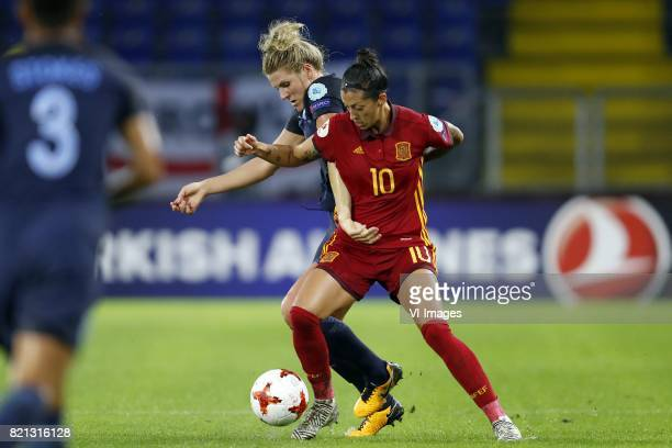 Millie Bright of England women Jennifer Hermoso of Spain women during the UEFA WEURO 2017 Group D group stage match between England and Spain at the...