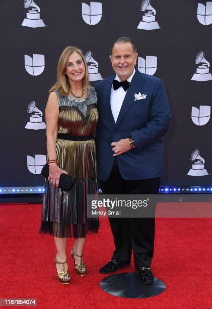 Millie de Molina and Raul de Molina attend the 20th Annual Latin Grammy Awards at the MGM Grand Garden Arena on November 14 2019 in Las Vegas Nevada
