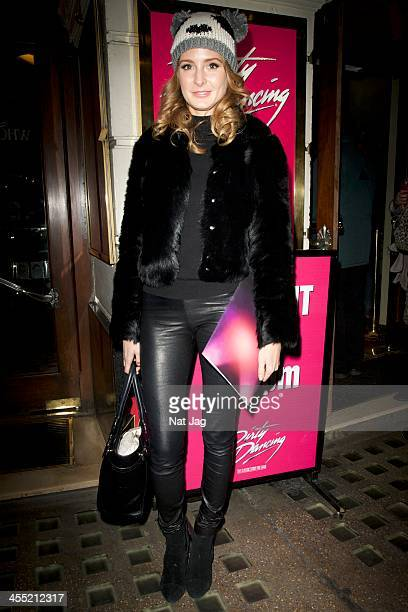 Millie Macintosh attends 'Dirty Dancing' at the Piccadilly Theatre on December 11 2013 in London England