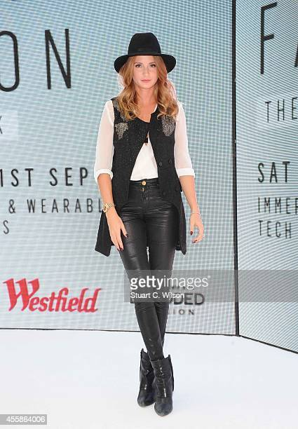 Millie Macintosh attends the Westfield 24 Hour 'Hackathon' as a judge at The Atrium Westfield on September 21 2014 in London England