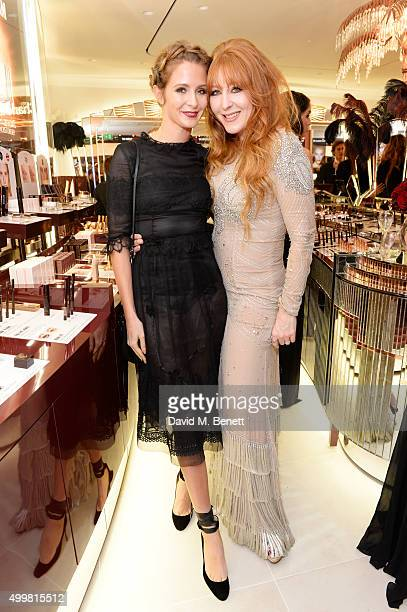 Millie Mackintosh and Charlotte Tilbury attend Charlotte Tilbury's naughty Christmas party celebrating the launch of Charlotte's new flagship beauty...