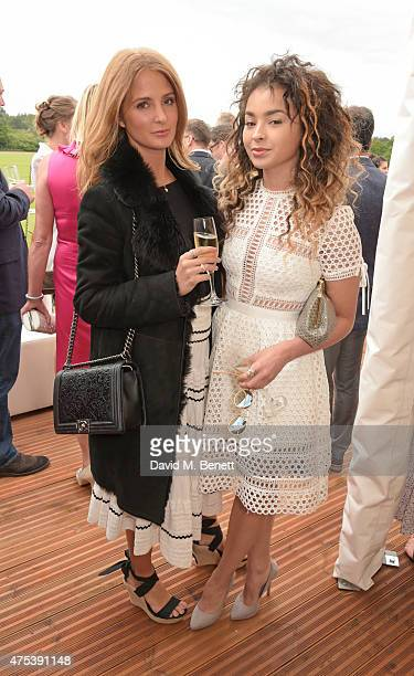Millie Mackintosh and Ella Eyre attend day two of the Audi Polo Challenge at Coworth Park on May 31 2015 in London England